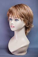 Натуральный парик №16, Цвет мелирование светло-русый с белым