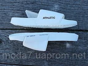 Шлепанцы женские белые Athletic Атлетик оригинал, фото 2
