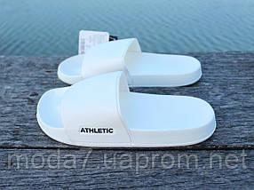Шлепанцы женские белые Athletic Атлетик оригинал, фото 3