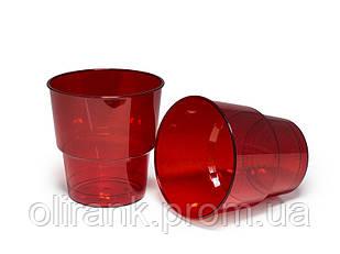 Стакан стеклоподобный 200мл 25шт/уп цветной (36уп/ящ)