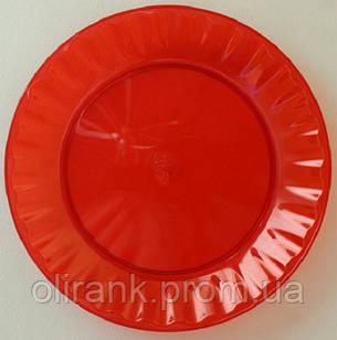 Тарелка стеклоподобная 205Д 10шт/уп цветная