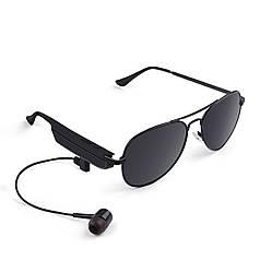 ✦Bluetooth гарнітура-окуляри Gelete A8 Black бездротова V4.1 підключення до 10 метрів батарея 110 маг