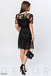 Вечернее платье мини черного цвета с мерцающим эффектом, фото 3