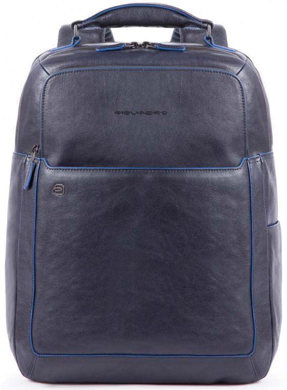 Рюкзак кожаный Piquadro B2S CA4174B2S_BLU, 23 л., синий
