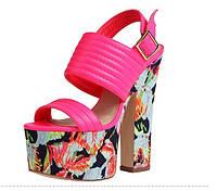 Эксклюзив !!! Pinkpalms 2015 европейские подиум яркие босоножки 2 цвета, фото 1