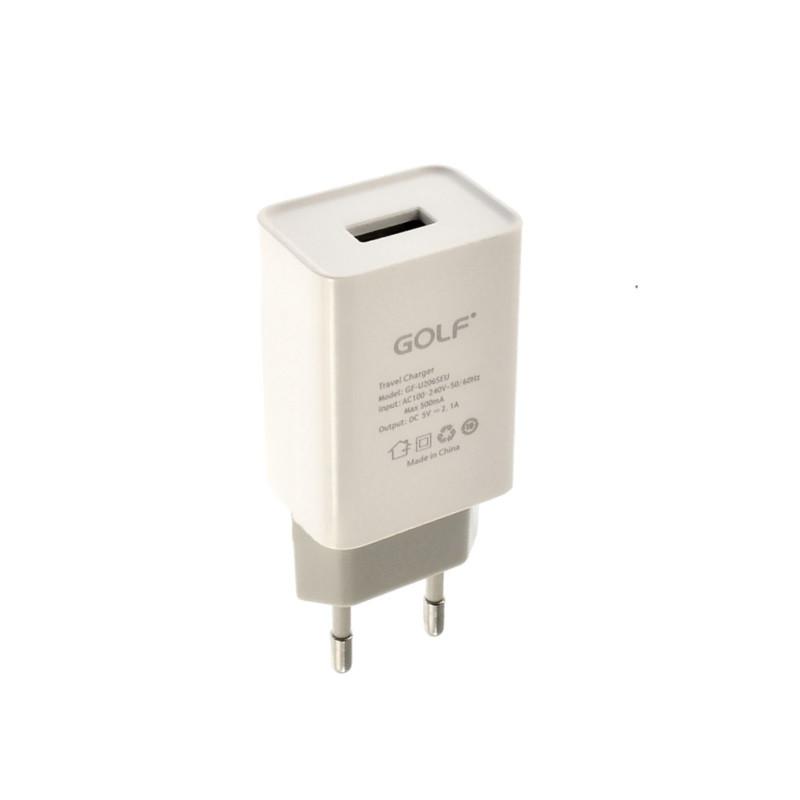 Зарядное устройство Golf GF-U206S 1xUSB 2.1A Белый