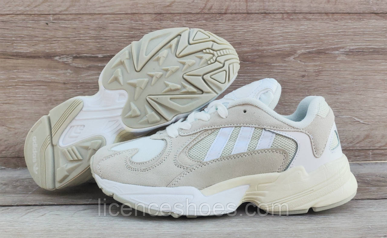 Детские, подростковые кроссовки Adidas Yung 1 (Falcon) Beige