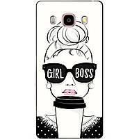 Силиконовый чехол бампер для Samsung Galaxy J510 J5-2016 с рисунком Girl Boss