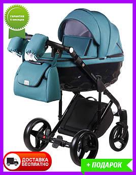 Детская коляска универсальная 2 в 1 Adamex Chantal C209 голубой (Адамекс Шанталь, Польша)