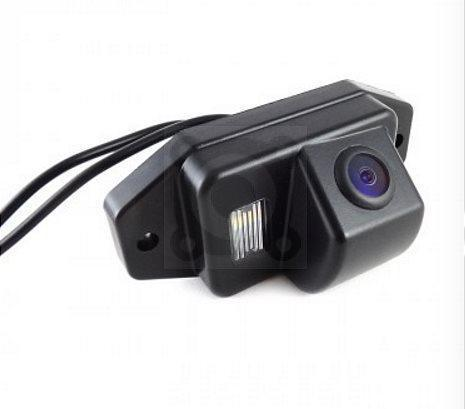 Штатная камера заднего вида Falcon SC01-XCCD. Toyota Prado 2002-2009 с запасным колесом на задней двери