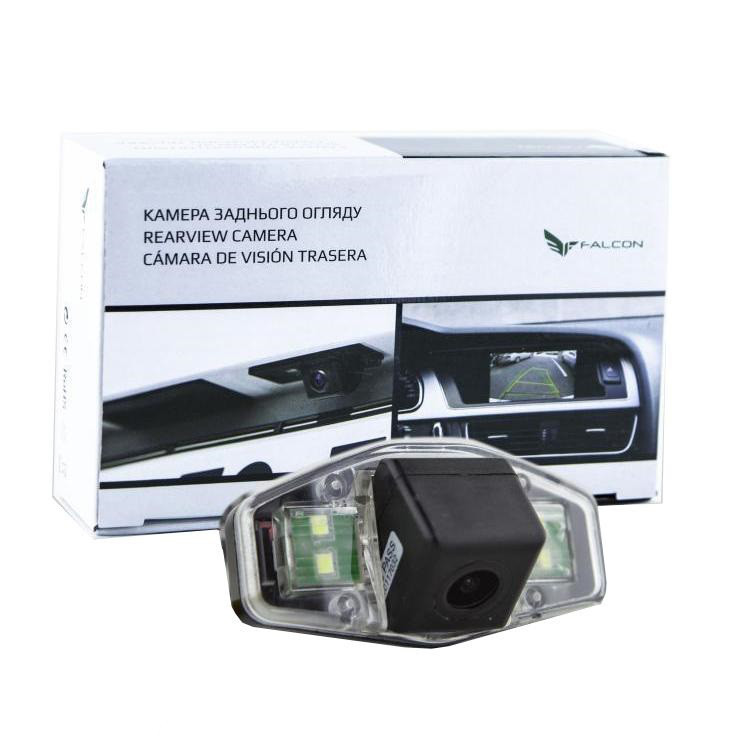 Штатная камера заднего вида Falcon SC12-XCCD. Honda Accord VI седан 1996-200/Accord VII седан 2002-2007/Pilot 2