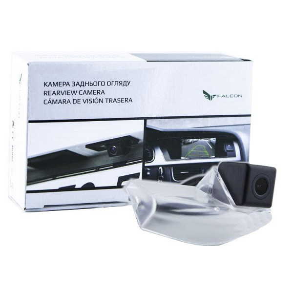 Штатная камера заднего вида Falcon SC33-XCCD. Mazda 2 2005+/3 2003-2012