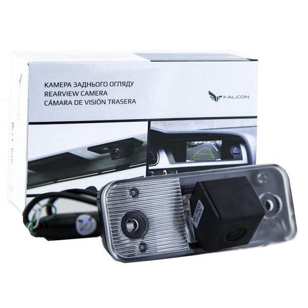 Штатная камера заднего вида Falcon SC35-XCCD. Hyuindai New Santa Fe 2006-2012