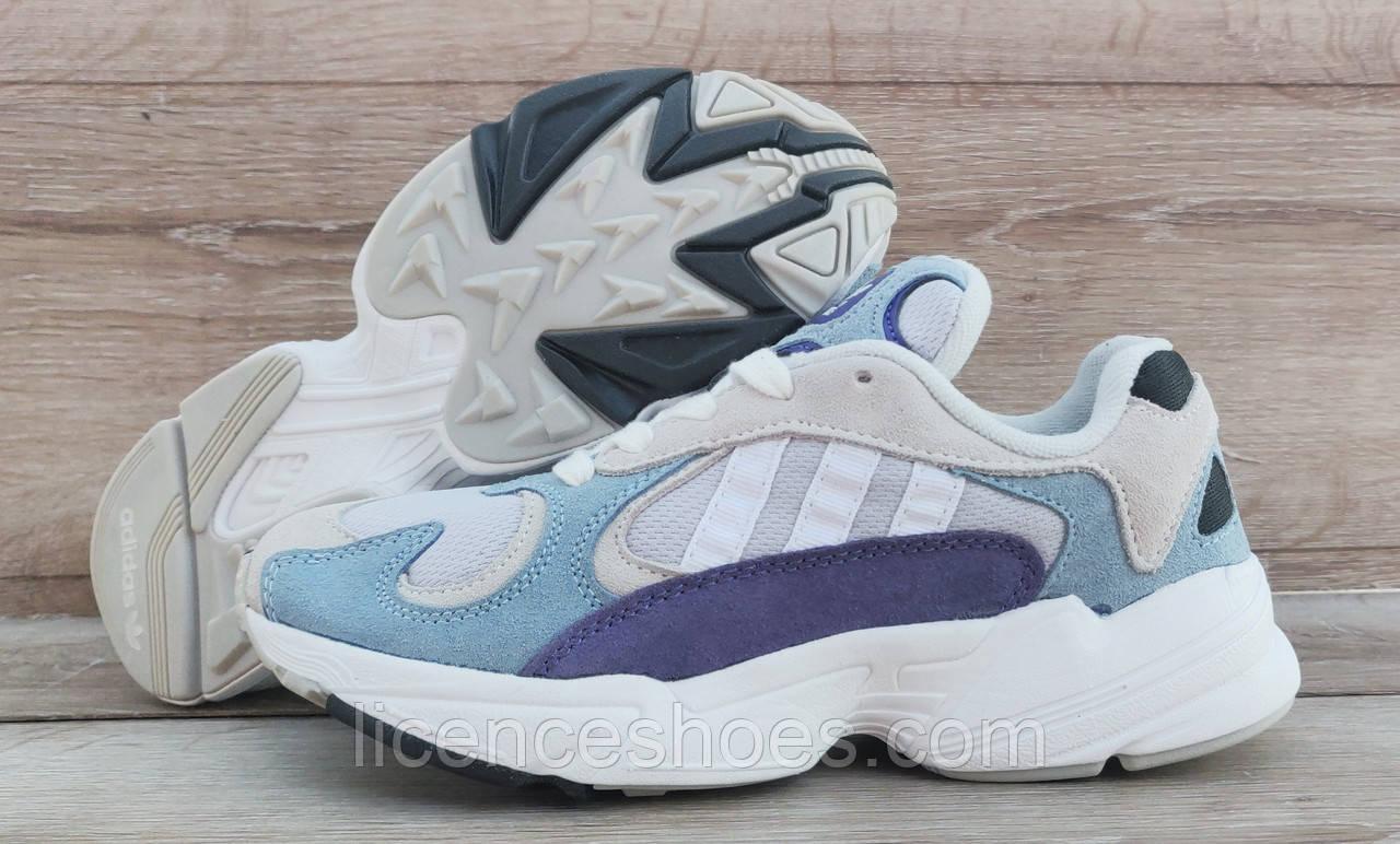 Детские, подростковые кроссовки Adidas Yung 1 (Falcon) White/Blue
