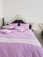 Ліжко(кровать)із дерева з різьбою та  м'якою частиною.