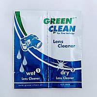 Салфетки green clean lc-7010 (влажная, сухая) для чистки оптики и техники
