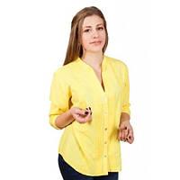 Яркая летняя блуза больших размеров из натуральной ткани