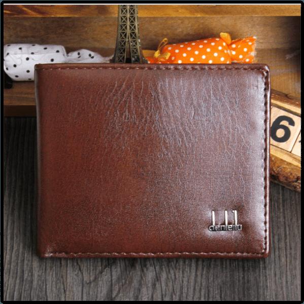 Мужской кошелек Очень тонкий , коричневый