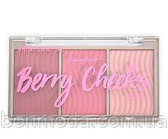 """Румяна + хайлайтер в наборе Blush Cheeks Ruby Rose """"Berry"""""""