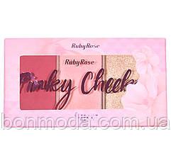 """Румяна + хайлайтер в наборе Blush Cheeks Ruby Rose """"Pinky"""""""