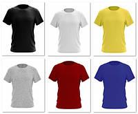 Футболка мужская COTTON Разные цвета ОПТ, розница Индиго