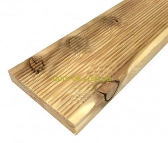 Террасная палубная доска из сибирской лиственницы размер Ширина 90мм, Толщина 22мм, Сорт ВС