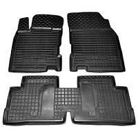 Коврики в салон для Nissan Qashqai I 2014 -> черный, кт - 4шт  11446 Avto-Gumm