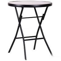 Стол раскладной Maya черный, стекло черный, TM AMF