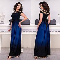 """Роскошное длинное платье вечернее с разрезом размеры S, M, L, XL, 2XL """"Миледи"""""""
