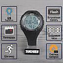 Часы наручные фитнес-трекер Skmei 1122, черные, в металлическом боксе, фото 2