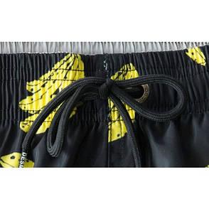 Шорты пляжные мужские чёрные с бананами- 183-07, фото 2