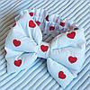 "Бант + резинка для конверта на виписку ""Сердечка"""