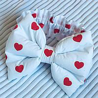 "Бант + резинка для конверта на виписку ""Сердечка"", фото 1"