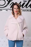 Меховая Куртка Из Овчины Вязка Белая 0148ШТ