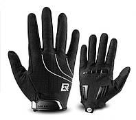 Перчатки RockBros Spyder закрытые, черные, M