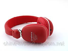 JBL by Harman BT-29 Bass Bluetooth Wireless Headset копия, наушники с FM MP3, красные, фото 2