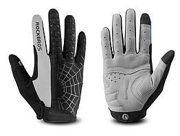 Перчатки RockBros Spyder закрытые, черно-серые, M