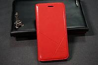 Чехол книжка для Samsung Galaxy J7 J710 (2016) Duos ( Самсунг ) цвет красный