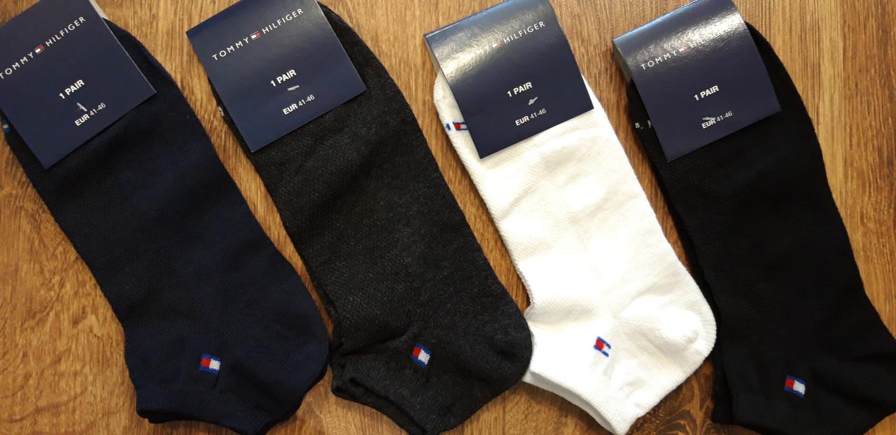 """Мужские короткие стрейч.носки(сетка) в стиле""""Tommy"""" 41-46"""