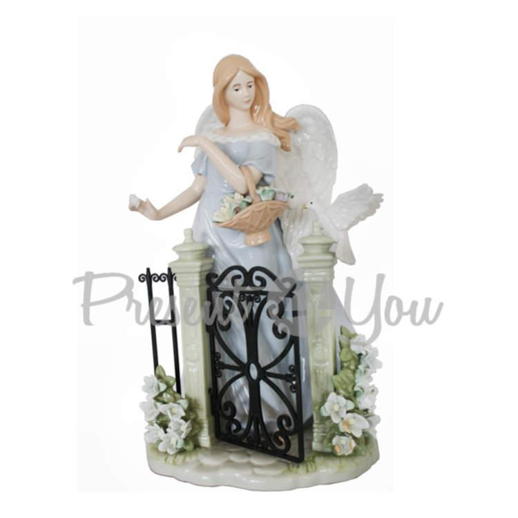 Фигурка фарфоровая «Ангел у ворот», 35х20х17 см (350-3088)