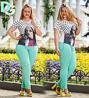Штаны с подворотом  женские молодёжные  № 656 Гл