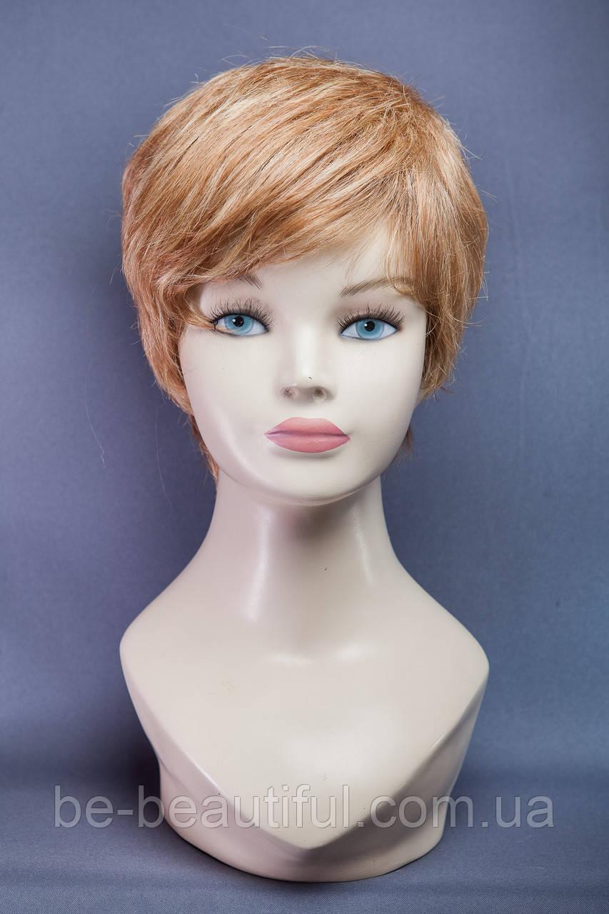 Натуральный парик №8, цвет мелирование русый, песочный блонд