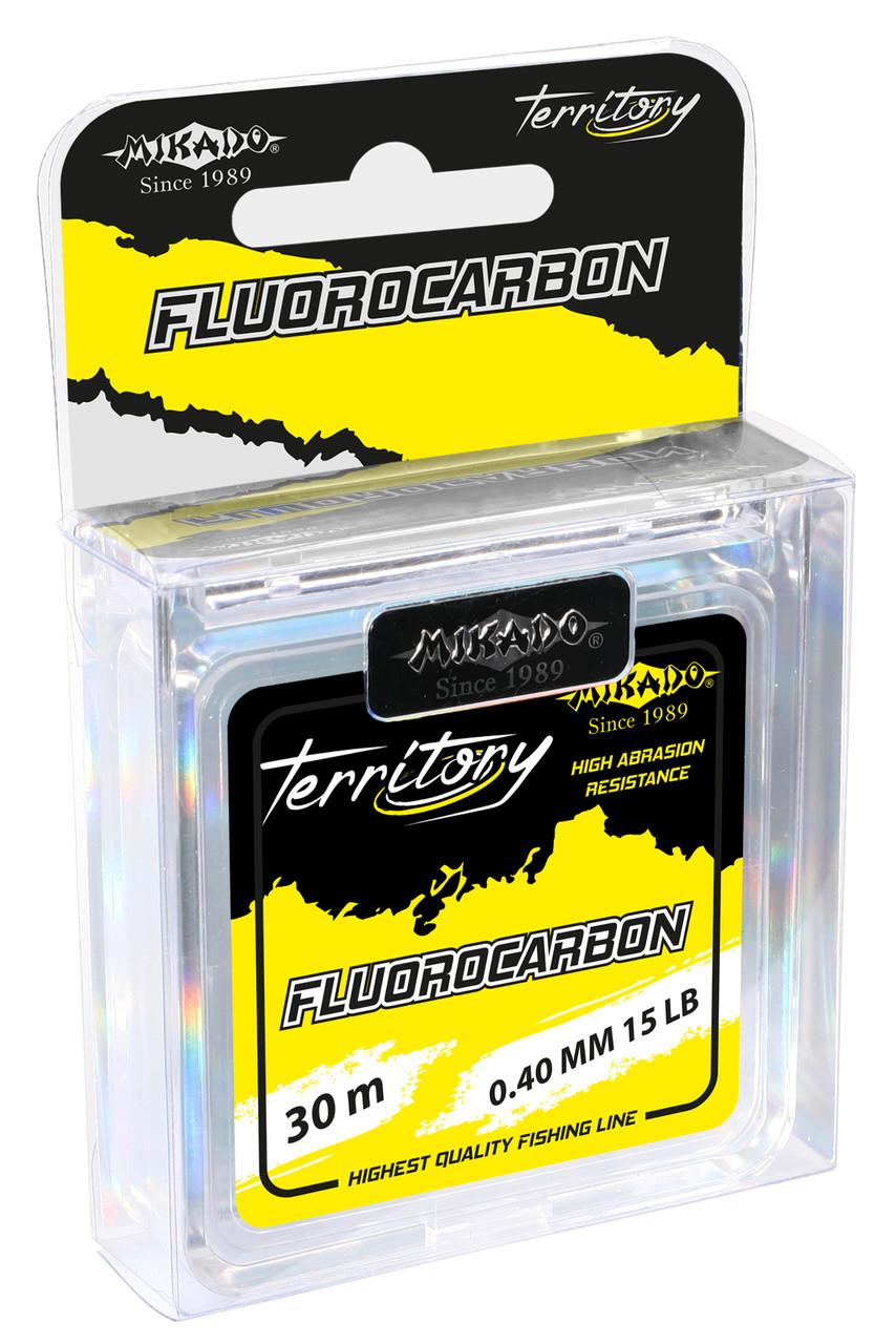 Леска Mikado Fluorocarbon Carp Territory 30м 0,45мм 9,07кг (прозрачный)