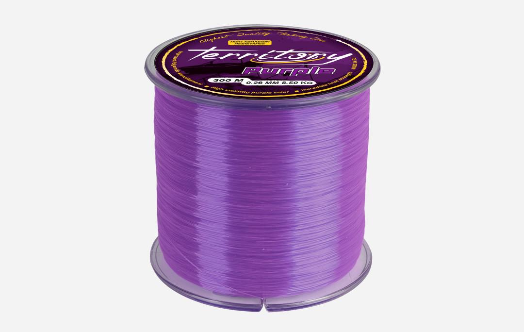 Леска Mikado Territory Purple Line 600м 0,30мм 10,9кг (пурпурный)