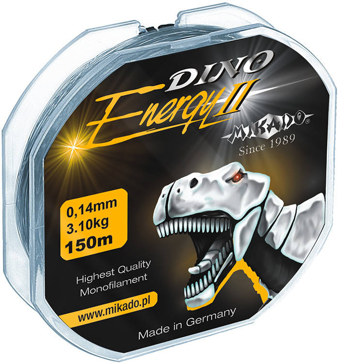 Леска Mikado Dino Energy II 150м 0,24мм 7,3кг (прозрачный) 2шт.