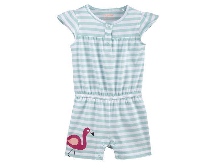 Ромпер  для девочки голубой полосатый  Фламинго IAN296310 Lupilu р.86/92см.