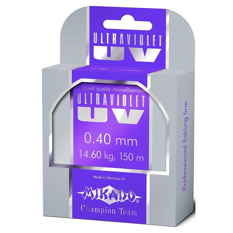 Леска Mikado Ultraviolet 25м 0,18мм 4.75кг (прозрачный)