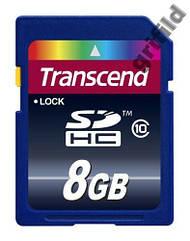 Карта памяти Transcend SDHC 8GB class 10 флешка
