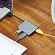 USB Хаб Baseus UC26-A 3в1 USB 3.0 х 3 Темно-сірий (UC26-A), фото 2
