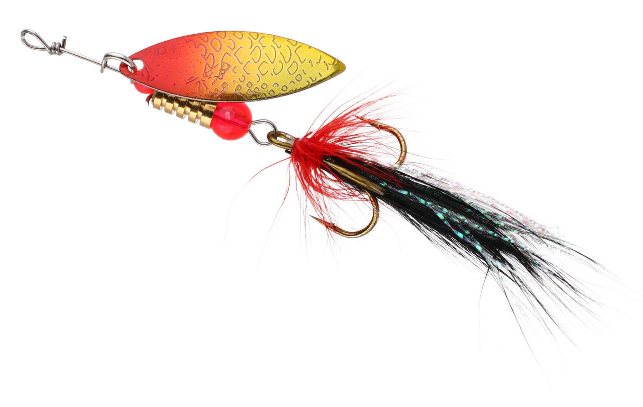 Блешня-вертушка Mikado Stream з мушкою 3г silver/13